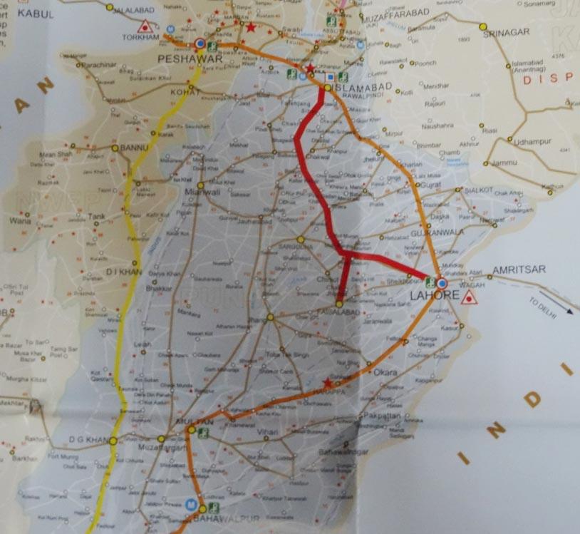 Carte du Punjab