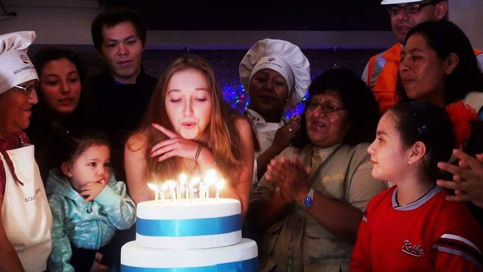 Mon anniversaire sur une maquette de gâteau